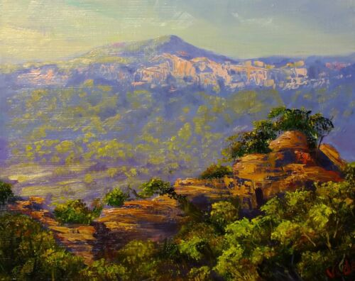 Pagodas near Capertee Valley - landscape painting by Chris Vidal