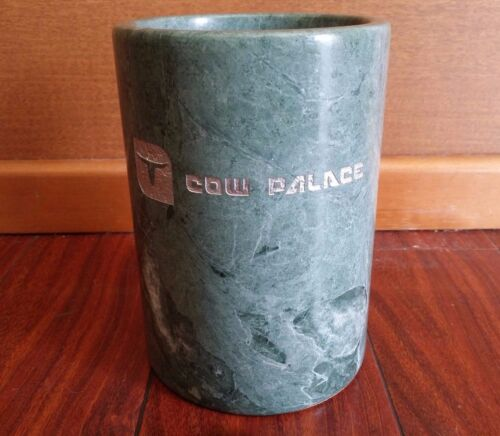 RARE Vintage COW PALACE SOLID MARBLE UTENSIL HOLDER WINE BOTTLE LIQUOR WHISKEY