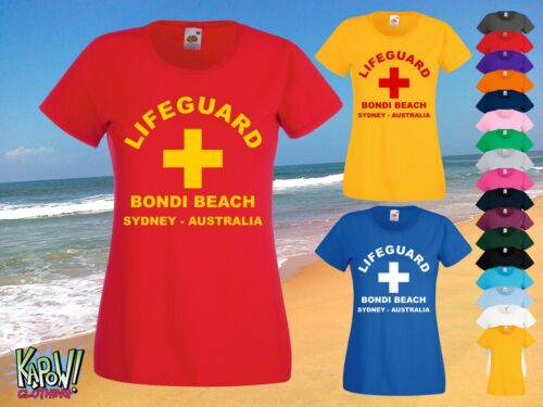 LIFEGUARD Womens Rescue Custom T-SHIRT Surf Surfer Baywatch Swimming Beach Party