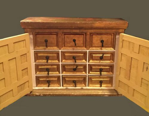 Vintage Italian apothecary. Rustic. Lafayette Galleries of Kentucky. 10 drawers.