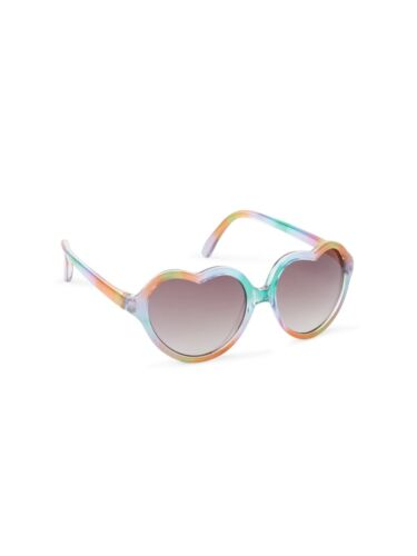 GAP Baby / Toddler Girls Rainbow Multi-Color Heart-Shaped Sunglasses - 100% UV