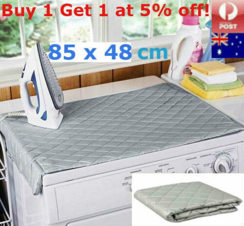Cotton Ironing Mat Compact Portable Iron Board Magnetic Travel Dryer Washer