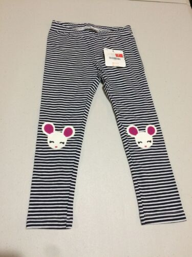 NWT Gymboree Leggings Toddler Girls Back To Blooms Striped Mouse 3T,4T