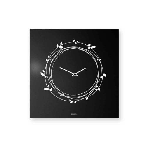 dESIGNoBJECT Wall Clock Nest black varnished 50x50 cm Made in Italy