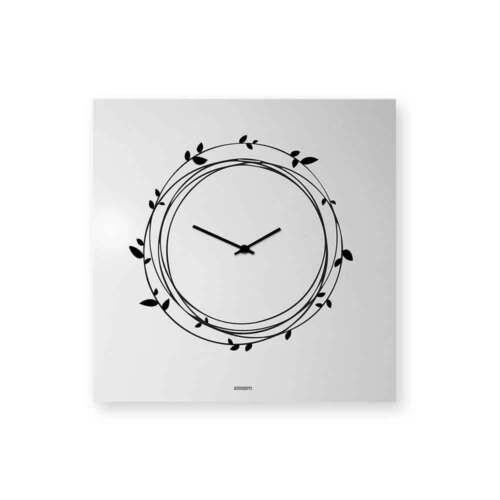 dESIGNoBJECT Wall Clock Nest white varnished 50x50 cm Made in Italy