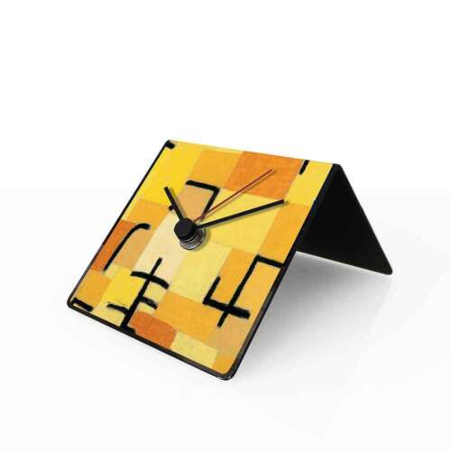 dESIGNoBJECT Table clock perpetual calendar Art Klee 10x10x10 cm Made in Italy