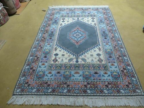 4' X 6' Vintage Hand Made Moroccan Tribal Wool Rug Carpet Medallion Nice