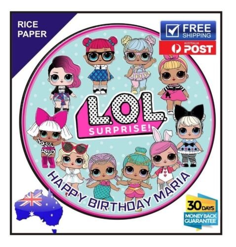 Glitter Dolls Personalized Edible Circle Cake Topper Image Decoration #283
