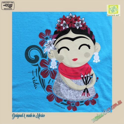 Mexican T-shirt for Girls, Baby Frida Kahlo, Cotton 100%, Serigraph