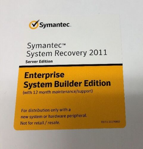 Symantec System Recovery 2011 Server Edition