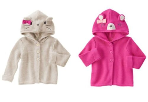 NWT Gymboree Woodland Wonder Bear Mouse Sweater Cardigan 12 18 24 2T 3T 4T 5T