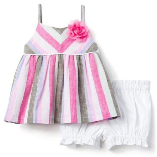 bdcaed767852 NWT Gymboree So Tropical Blossom Striped Tunic Bloomers Baby Girls Outfit  Set