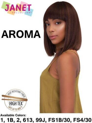 "AROMA - 12"" Premium Synthetic Bob Style Wig - Heat Resistant -  Janet Collection"