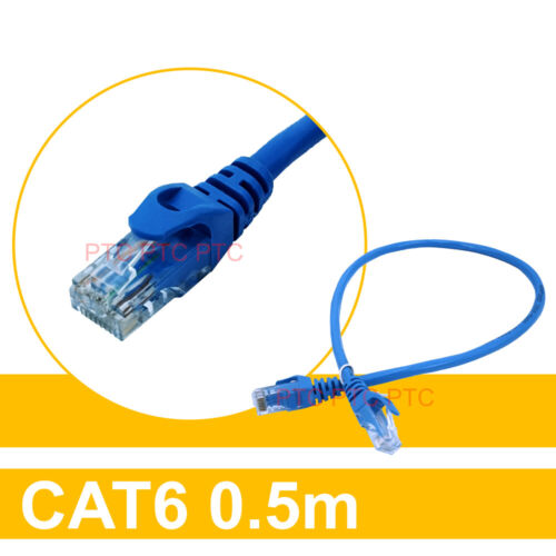 0.5m/50CM Cat6 UTP Ethernet LAN Network Data Cable Patch Leads 10/100/1000mbps