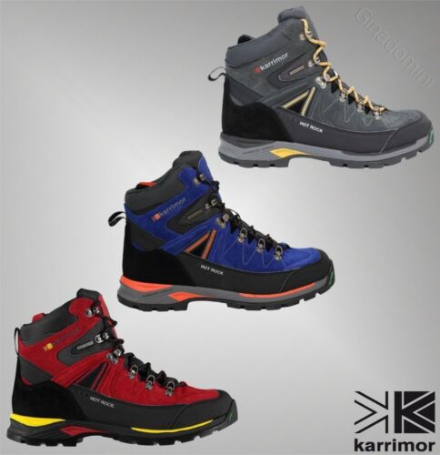 Mens Karrimor Waterproof Lace Up Hot Rock Walking Boots Sizes UK from 7 to 11
