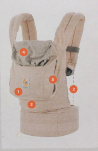 Ergobaby Original Baby Carrier 3 Positions Baby Toddler 12-45 lbs Rose Harmony