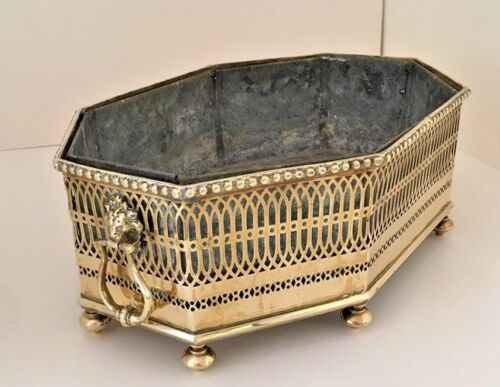 Original 18th C. English George III Brass Jardiniere