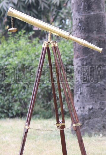 Vintage Brass Telescope With Tripod Antique Design Nautical Scope maritime Gift