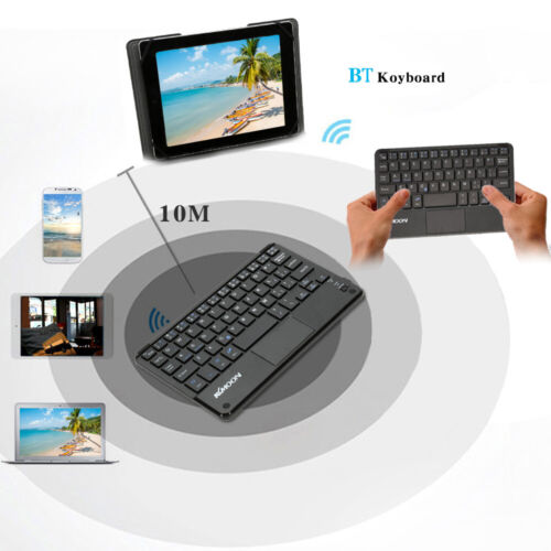 KKMOON Mini BT3.0 Wireless Keyboard Touchpad for PC Laptop Windows Android A6V8