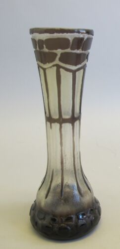 "Fine & Unique FRENCH ART DECO 7.5"" Acid Cut Glass Vase  c. 1910"