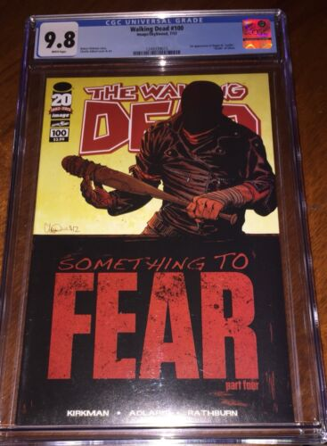 The Walking Dead -  #100 - First Appearance Of Negan - CGC 9.8