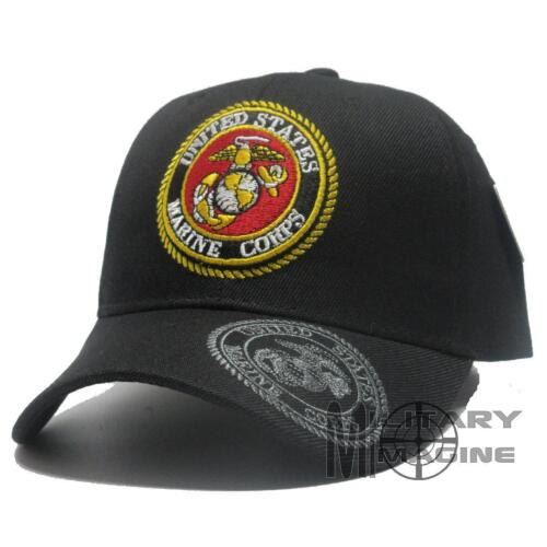 U.S. MARINES hat Military Front Logo Corps Official Licensed Baseball cap BlackMarine Corps - 66531