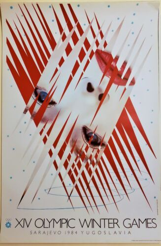 JAMES ROSENQUIST Original SARAJEVO XIV WINTER OLYMPIC GAMES 1984 Lithograph ICE