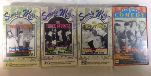 THE THREE STOOGES VHS 4 Cassettes