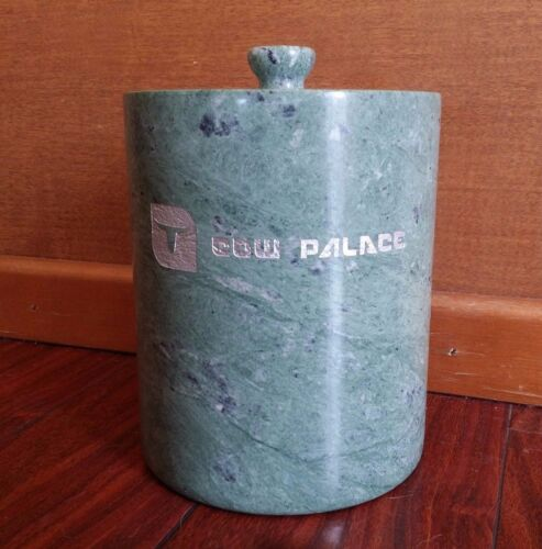 RARE Vintage COW PALACE SOLID MARBLE ICE BUCKET DALY CITY CALIFORNIA RODEO