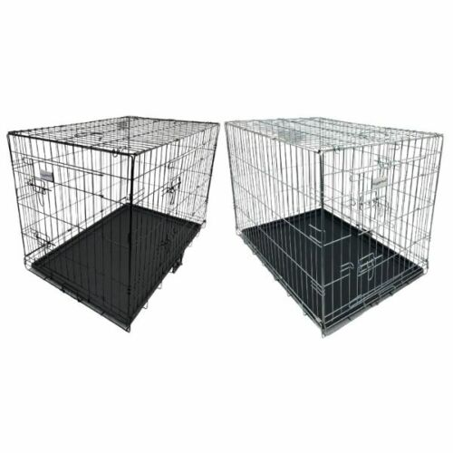 HUGGLEPETS DOG CAGE PUPPY TRAINING CRATE PET CARRIER - SMALL MEDIUM LARGE XL XXL