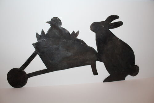 Primitive Early 19th C. Style Rabbit and Chic Tin Quilting Template Pattern