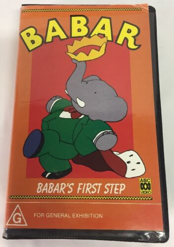ABC Video: Babar - Babar's First Step - VHS - Clam Shell Case