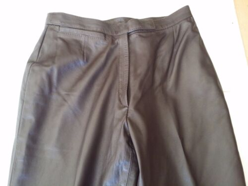 IMMACULATE  VERA PELLE ITALY LEATHER RIDING PANTS MOTORCYCLE 42