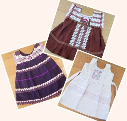Handmade in Mexico, Embroidered, Baby Girl-Toddler Summer Dress, Cotton, Size 1