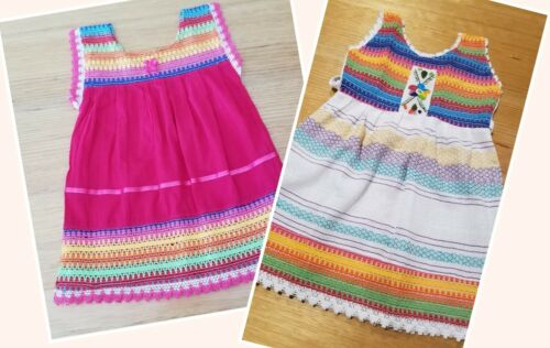 Handmade in Mexico, Embroidered, Baby Girl-Toddler Summer Dress, Cotton, Size 2