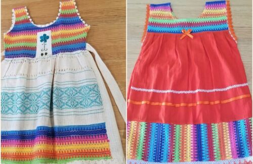 Handmade in Mexico, Embroidered, Baby Girl-Toddler Summer Dress, Cotton, Size 3