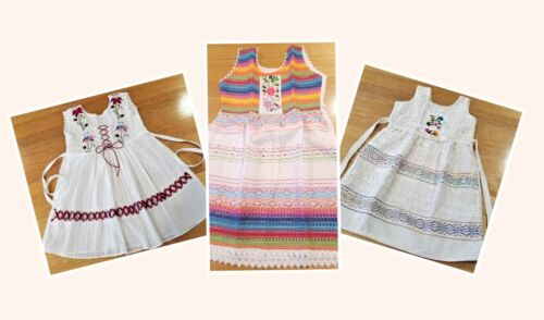 Handmade in Mexico, Embroidered, Girl's Summer Dress, Cotton, Size 4