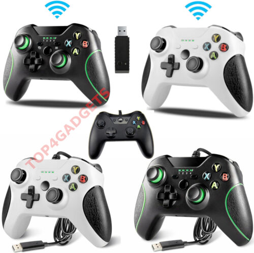 WIRED OR WIRELESS CONTROLLERS FOR MICROSOFT XBOX ONE BLACK OR WHITE CONTROLLER <br/> TOP QUALITY✔ BEST SELLER✔UK STOCK✔ FREE FAST POSTAGE✔