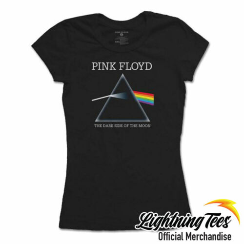 Official Pink Floyd Dark Side Of The Moon Rock Band Ladies T-Shirt