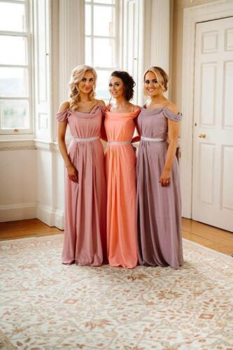 Bridesmaid Dresses Long Chiffon Prom Party Ballgown Maxi Evening Gown Uk <br/> UK SELLER, UK SHIPPING- BEAUTIFUL GOWN ONLY £41.99
