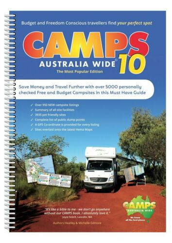 Camps Australia Wide 10 Spiral Bound Book : A4 Size  <br/> Lastest 2019 Edition Hot Off the Press!
