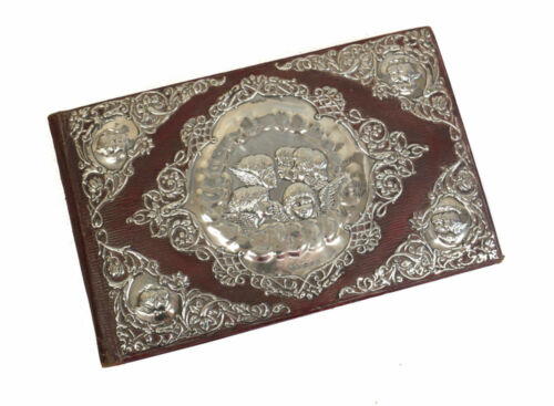 Henry Matthews Birmingham Sterling Silver & Leather Book Bound, 1898