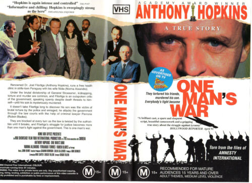 ONE MAN'S WAR- Hopkins-VHS -PAL -NEW -NEVER PLAYED! -RARE! -Original Oz release