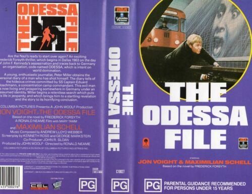 THE ODESSA FILE - Jon Voight - VHS - N&S - PAL - Original Oz sell-thru release