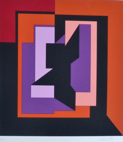 """VICTOR VASARELY """"EIKO"""" 1983 HAND SIGNED NUMBERED EDITION 128/150 SERIGRAPH"""