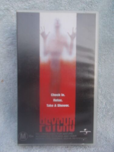 PSYCHO(UNIVERSAL No CST 0448053) VHS TAPE M (LIKE NEW)