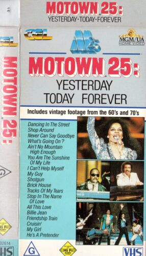 MOTOWN 25: YESTERDAY TODAY FOREVER - VHS -NEW-PAL-Original Oz sell-thru release