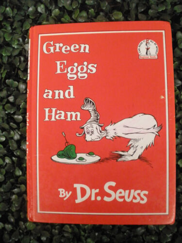 Green Eggs and Ham by Dr Seuss - 1962 Hard Cover