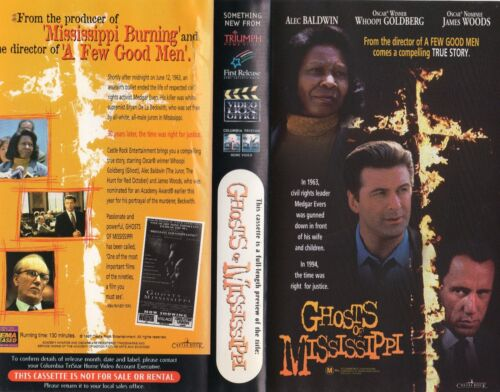 GHOSTS OF MISSISSIPPI - Baldwin & Woods VHS - PAL - Time Coded - Dealer Preview
