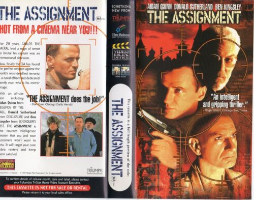 THE ASSIGNMENT - Aidan Quinn - VHS - Time Coded - Dealer Preview - PAL - AS NEW